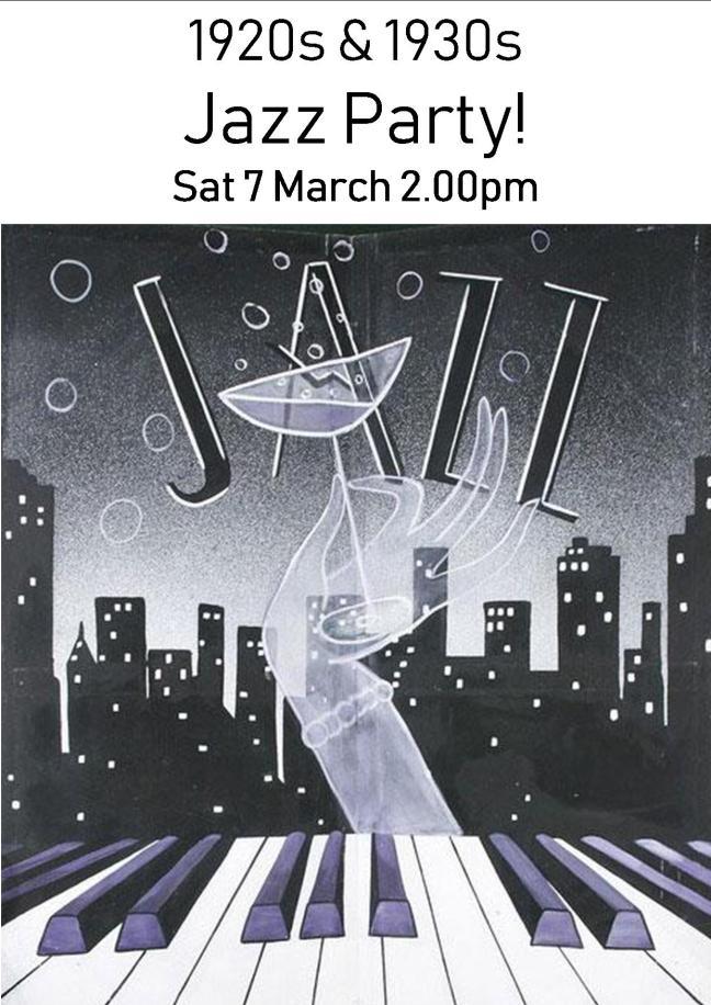 1920s & 1930s JAZZ PARTY SAT 7 MAR 2.00PM!