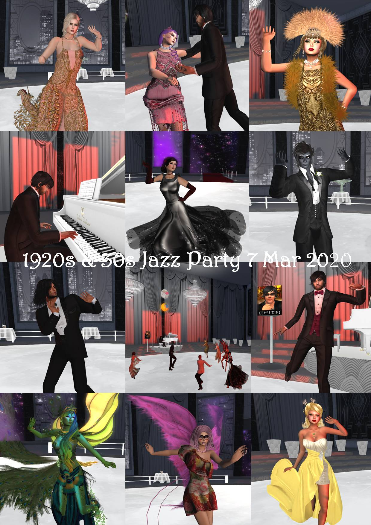 1920s & 30s JAZZ PARTY COLLAGE 7 MAR 2020