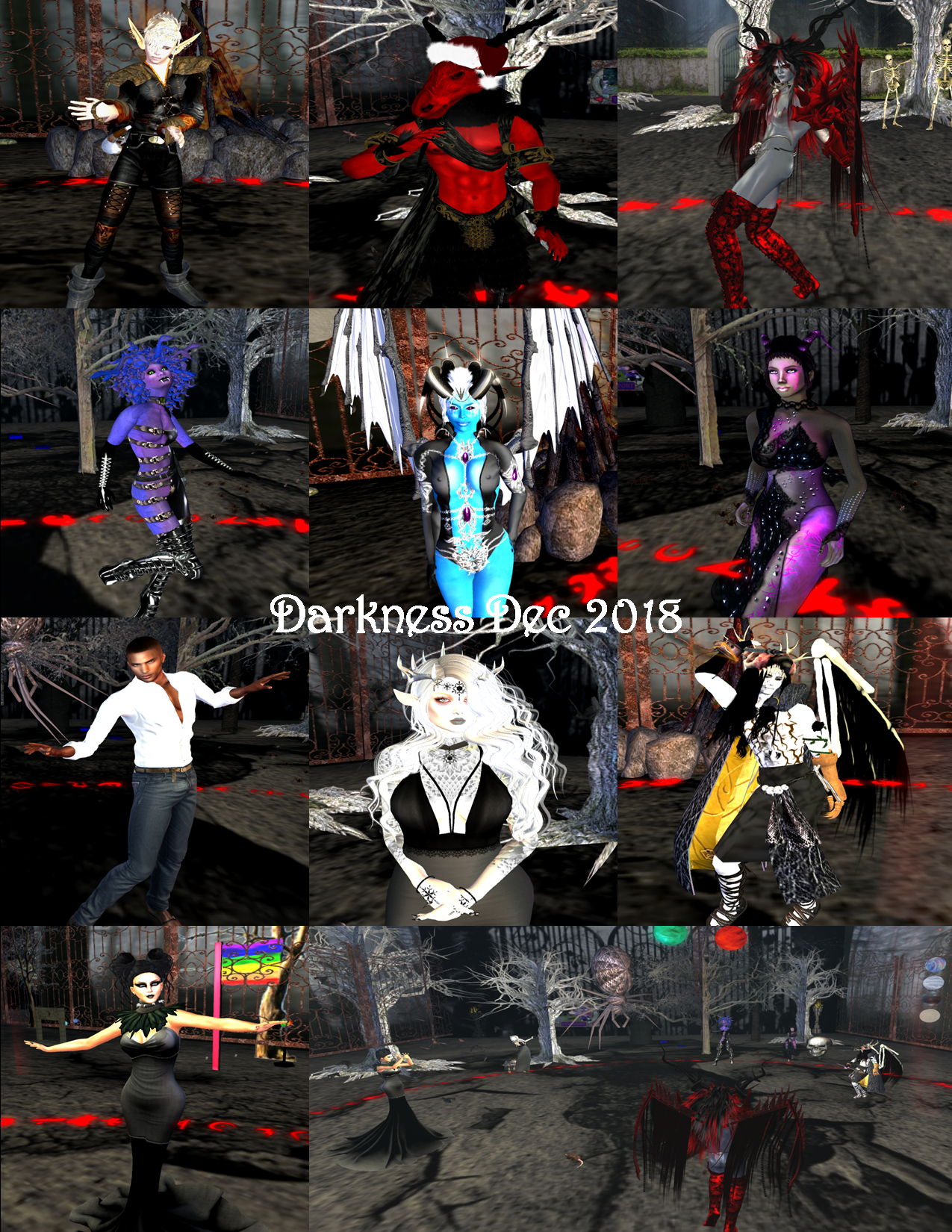 DARKNESS PARTY COLLAGE DEC 2018