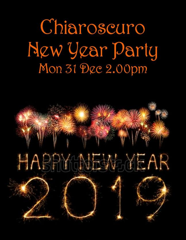 NEW YEAR PARTY POSTER 2019 SAT 31 DEC 2.00PM