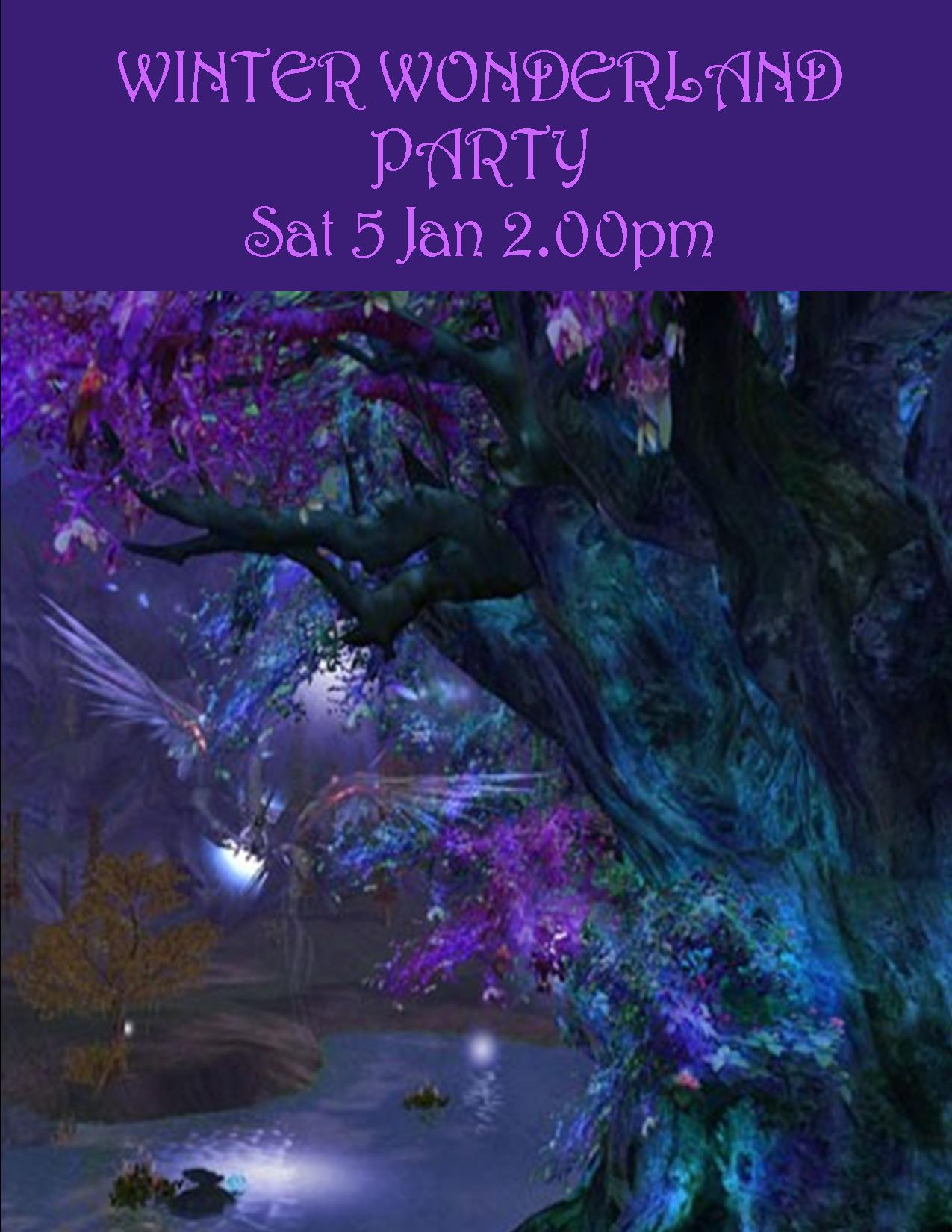 WINTER WONDERLAND PARTY POSTER SAT 5 JAN 2.00PM 2019