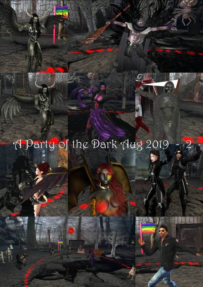 A PARTY OF THE DARK COLLAGE AUG 2019 - 2