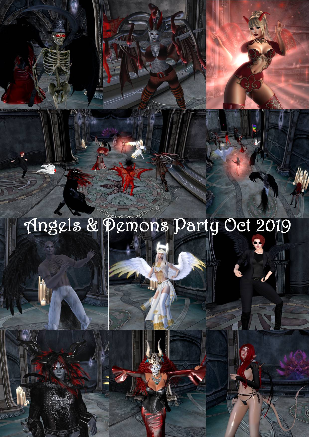 ANGELS & DEMONS PARTY COLLAGE OCT 2019