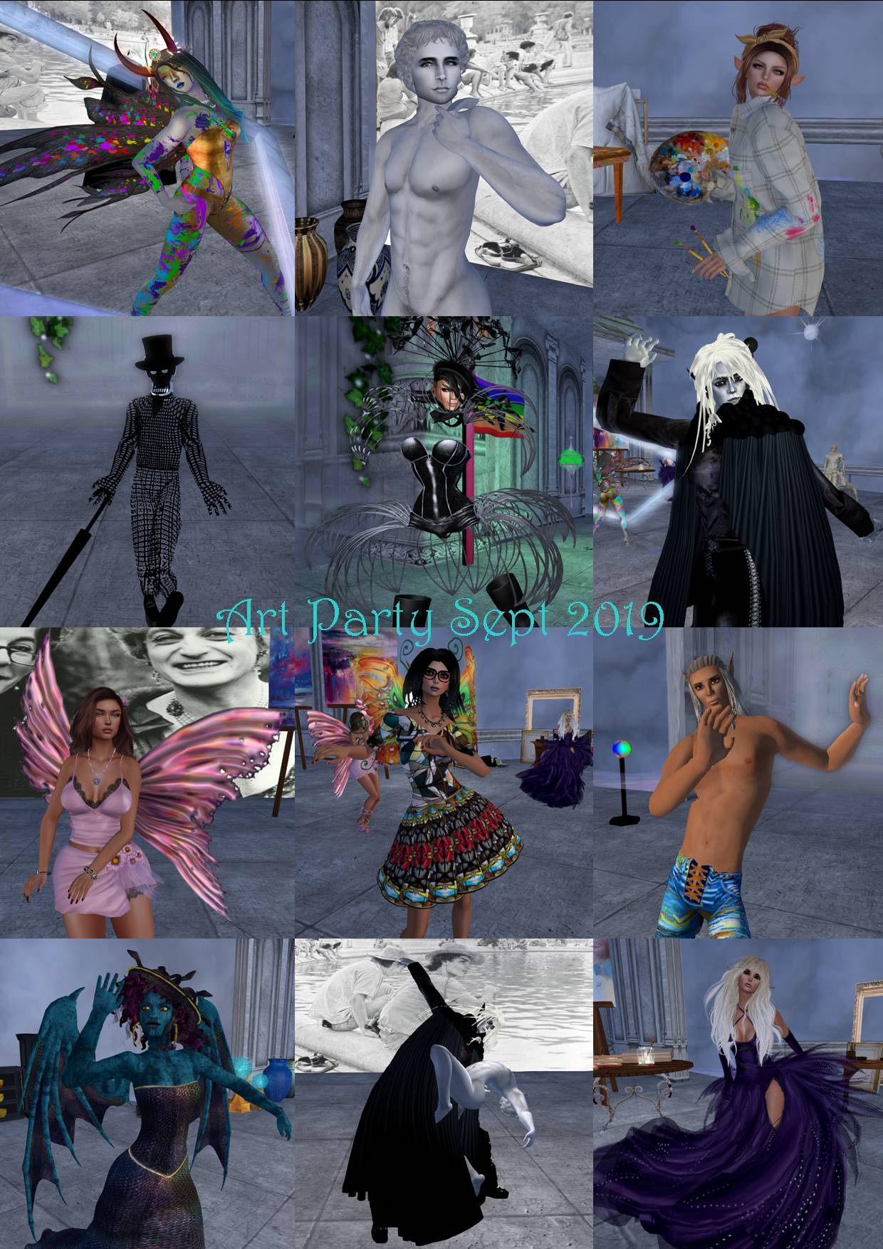 ART PARTY COLLAGE SEPT 2019