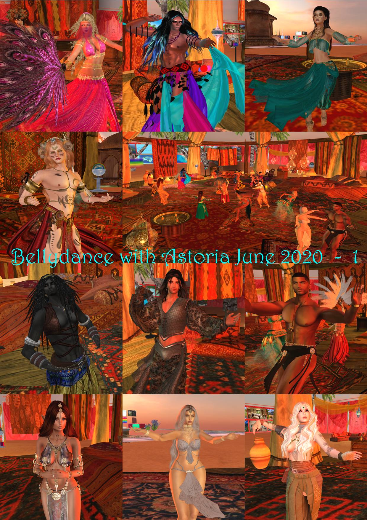 BELLYDANCE COLLAGE WITH ASTORIA JUNE 2020 - 1