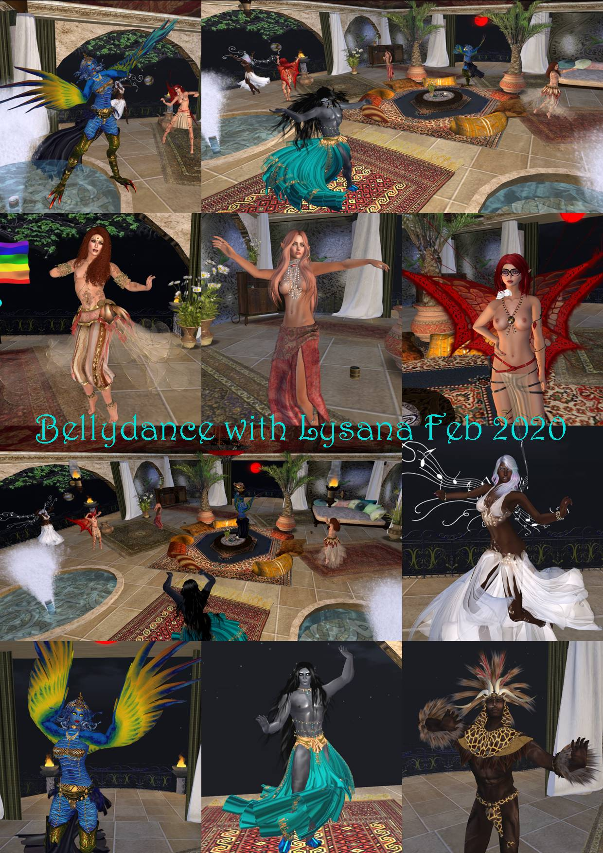 BELLYDANCE WITH LYSANA COLLAGE FEB 2020