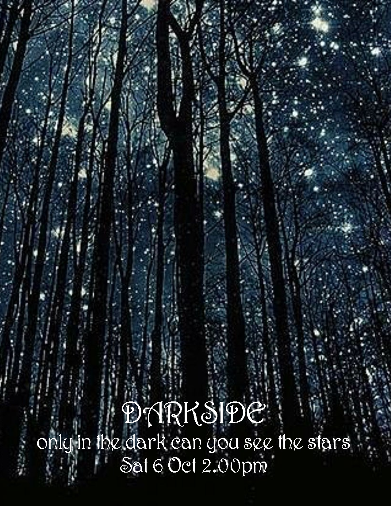 DARKSIDE PARTY POSTER 6 OCT 2018