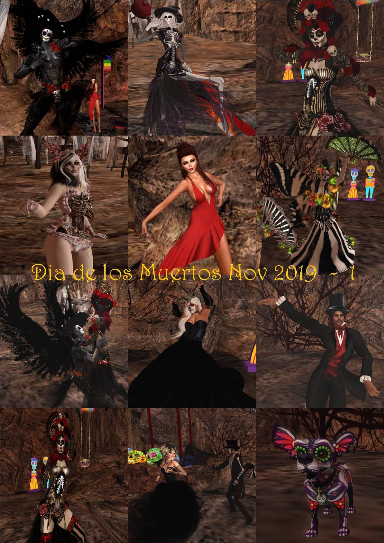 DIA DE LOS MUERTOS - DAY OF THE DEAD COLLAGE 2019