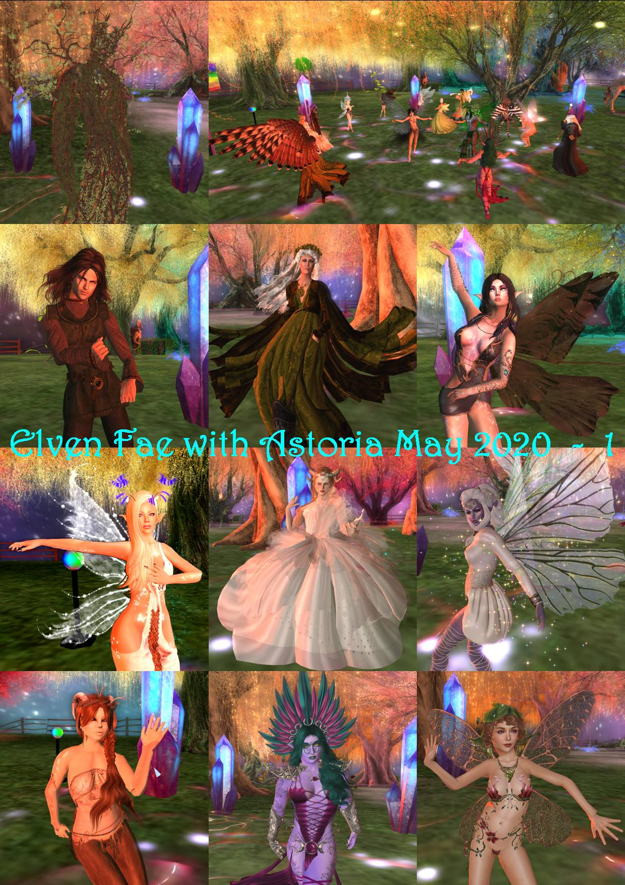 ELVEN FAE PARTY WITH ASTORIA COLLAGES - 1