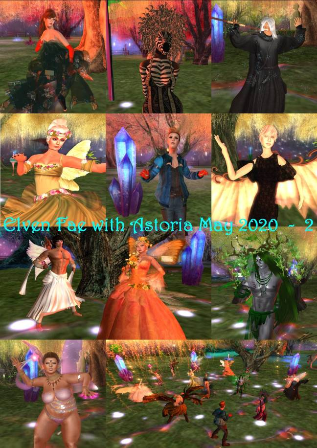 ELVEN FAE PARTY WITH ASTORIA COLLAGES - 2