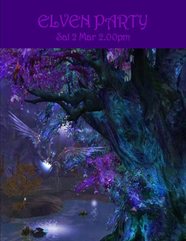 ELVEN PARTY SAT 2 MAR 2019