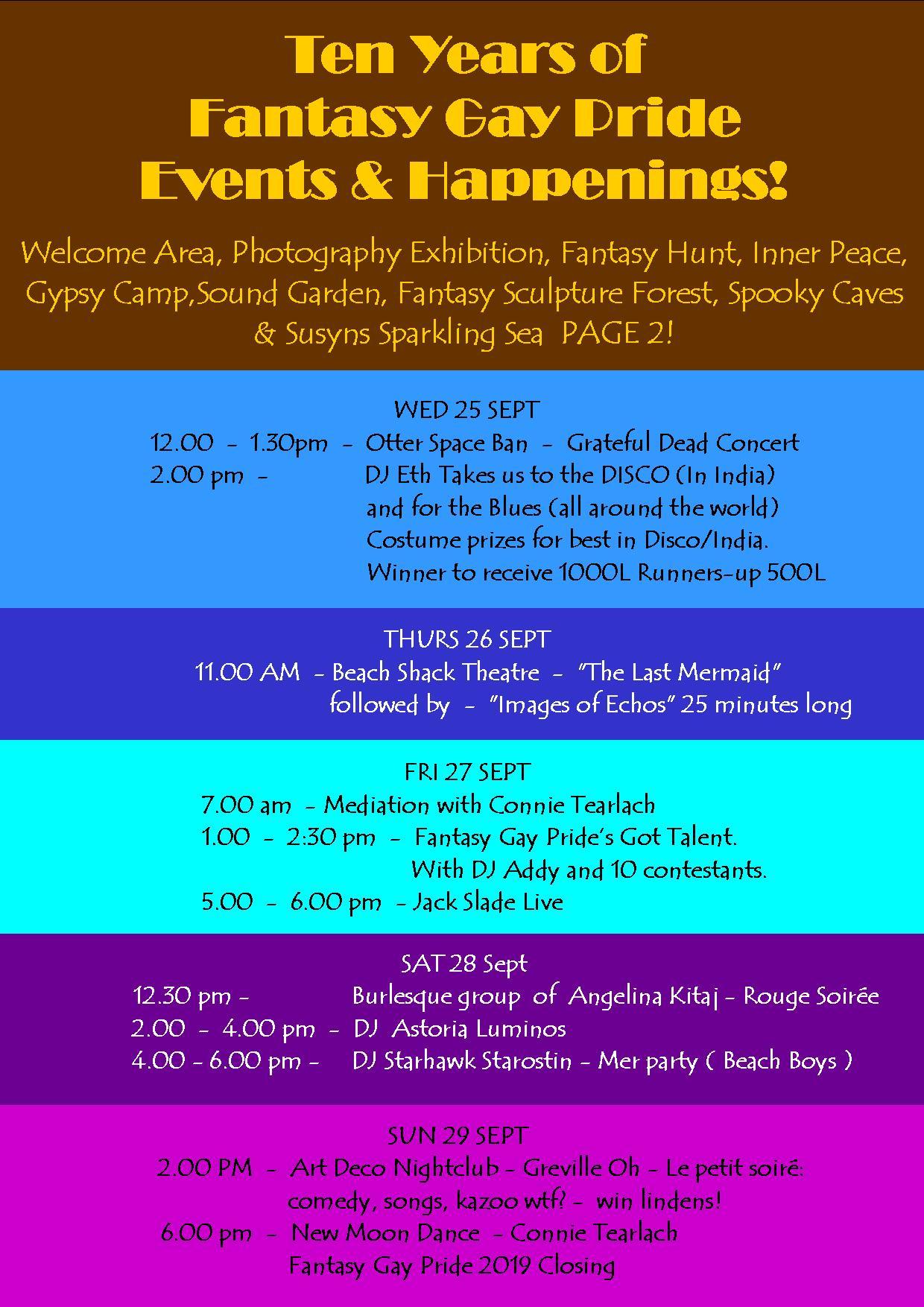 EVENTS & HAPPENINGS FANTASY GAY PRIDE 2019 2