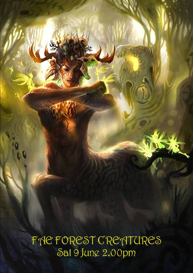 FAE FOREST CREATURES POSTER SAT 9 jUNE 2018
