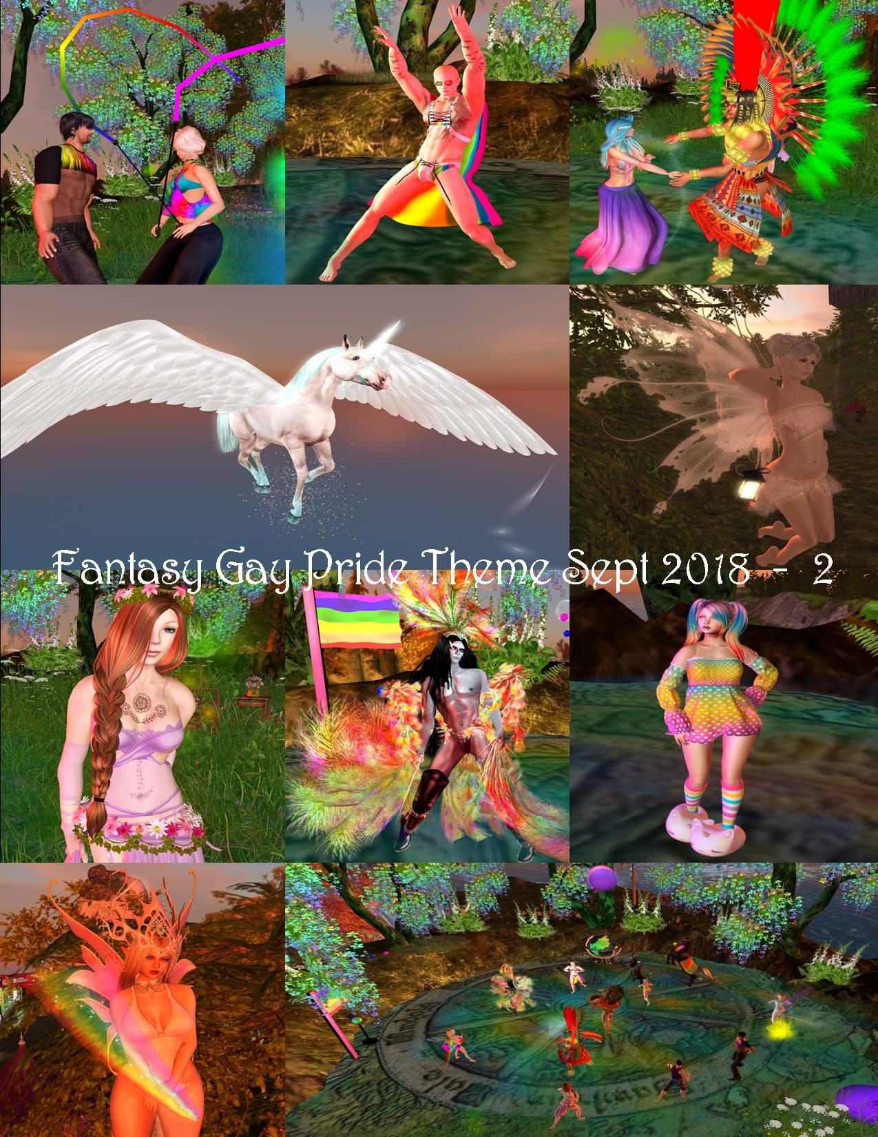 FANTASY GAY PRIDE THEME COLLAGE SEPT 2018 - 2