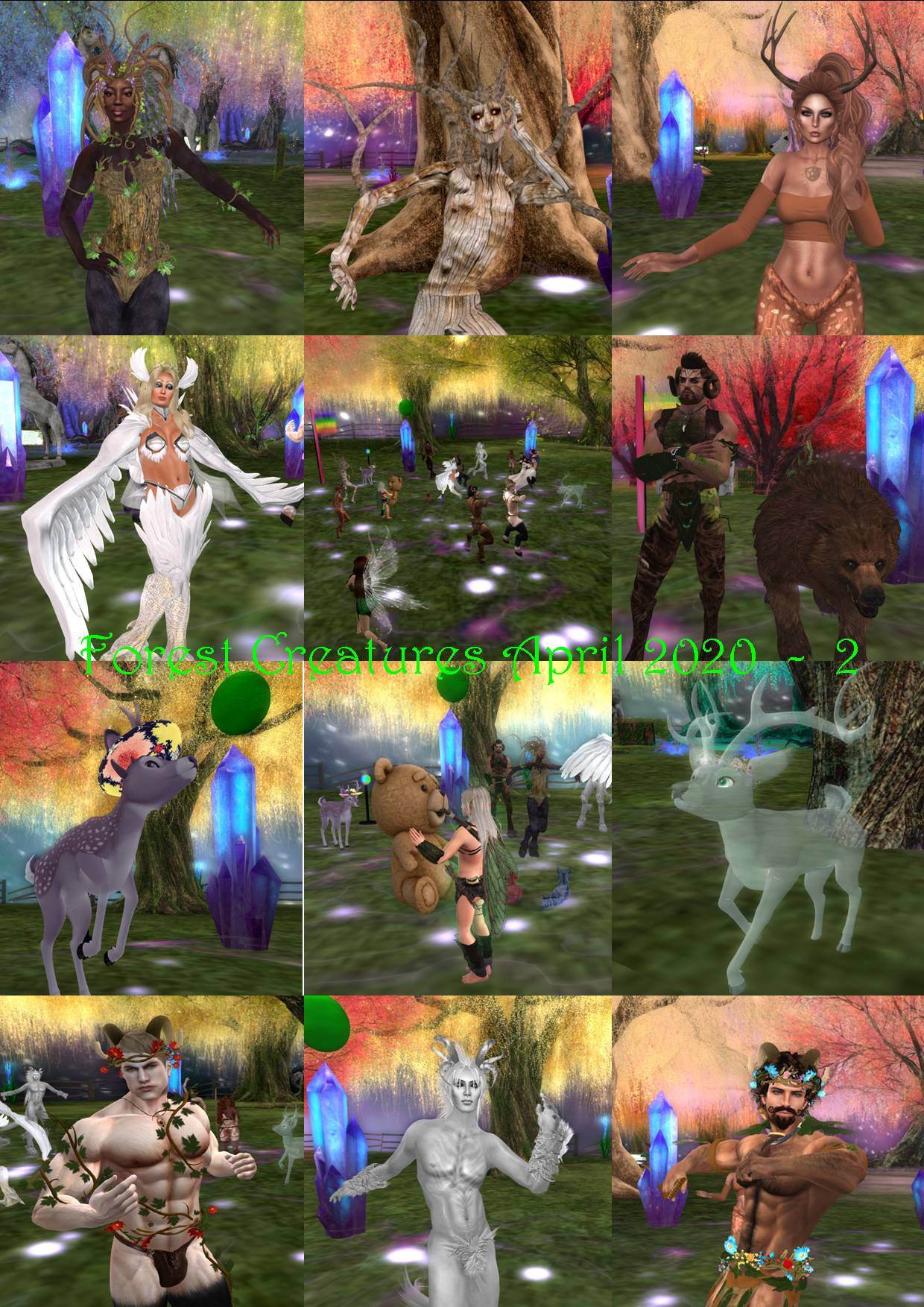 FOREST CREATURES COLLAGES APRIL 2020 - 2