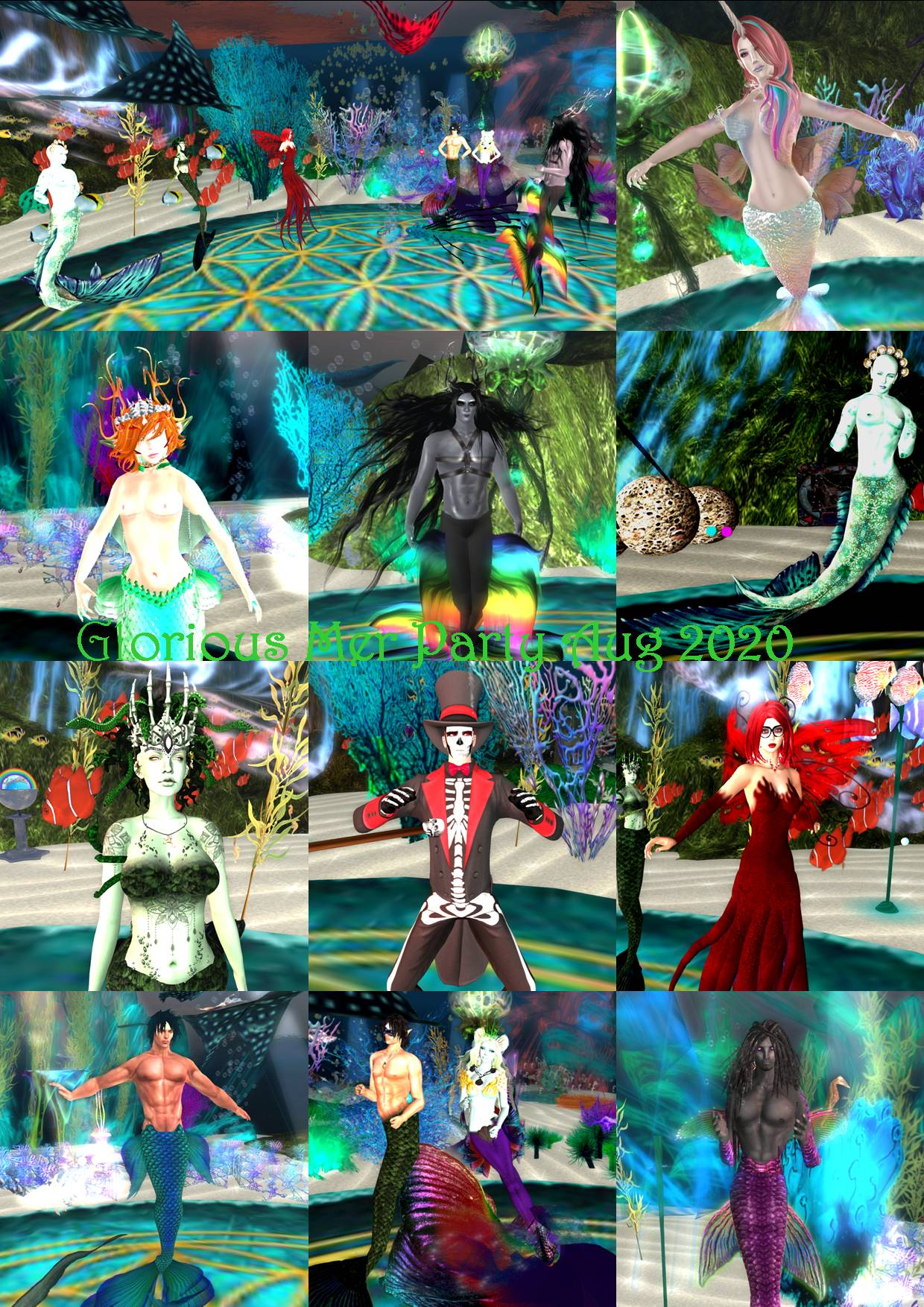 GLORIOUS MER PARTY COLLAGE AUG 2020