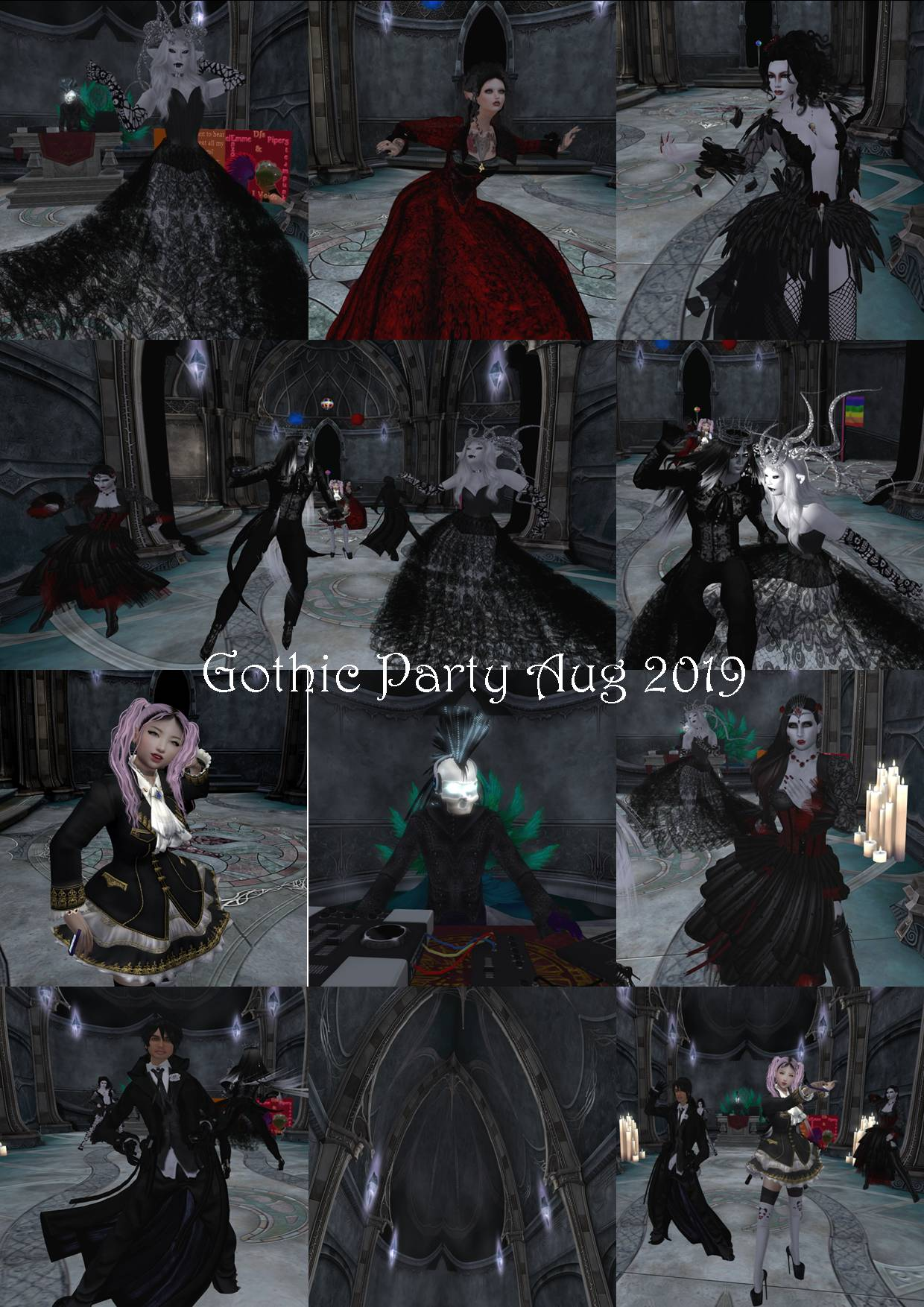 GOTHIC PARTY COLLAGE AUG 2019