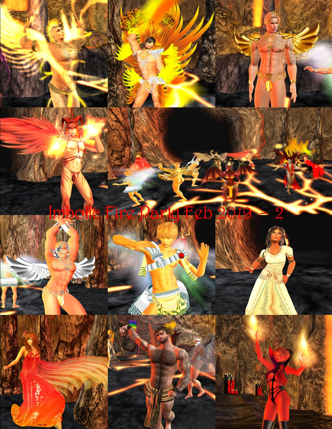 IMBOLIC FIRE PARTY COLLAGE FEB 2019 - 2