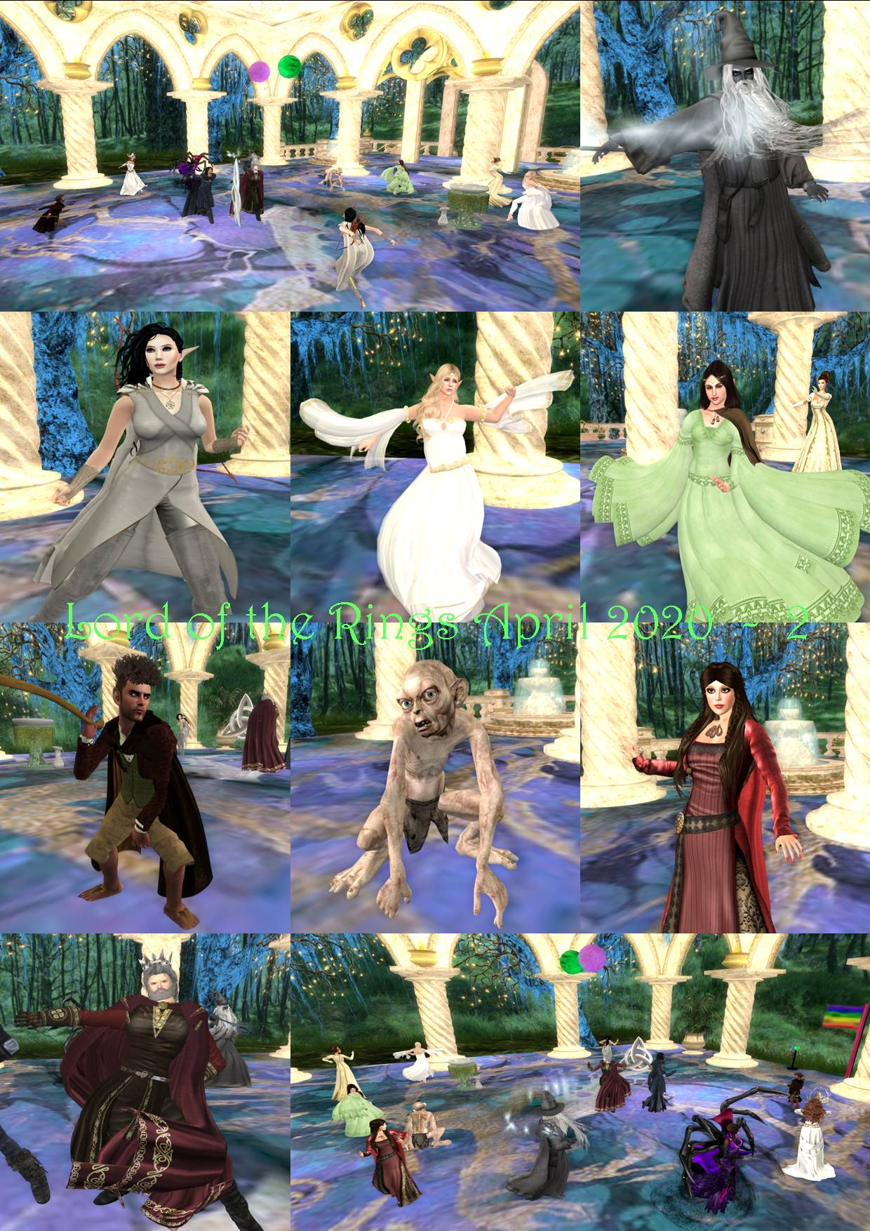 LORD OF THE RINGS PARTY COLLAGE APRIL 2020 - 2