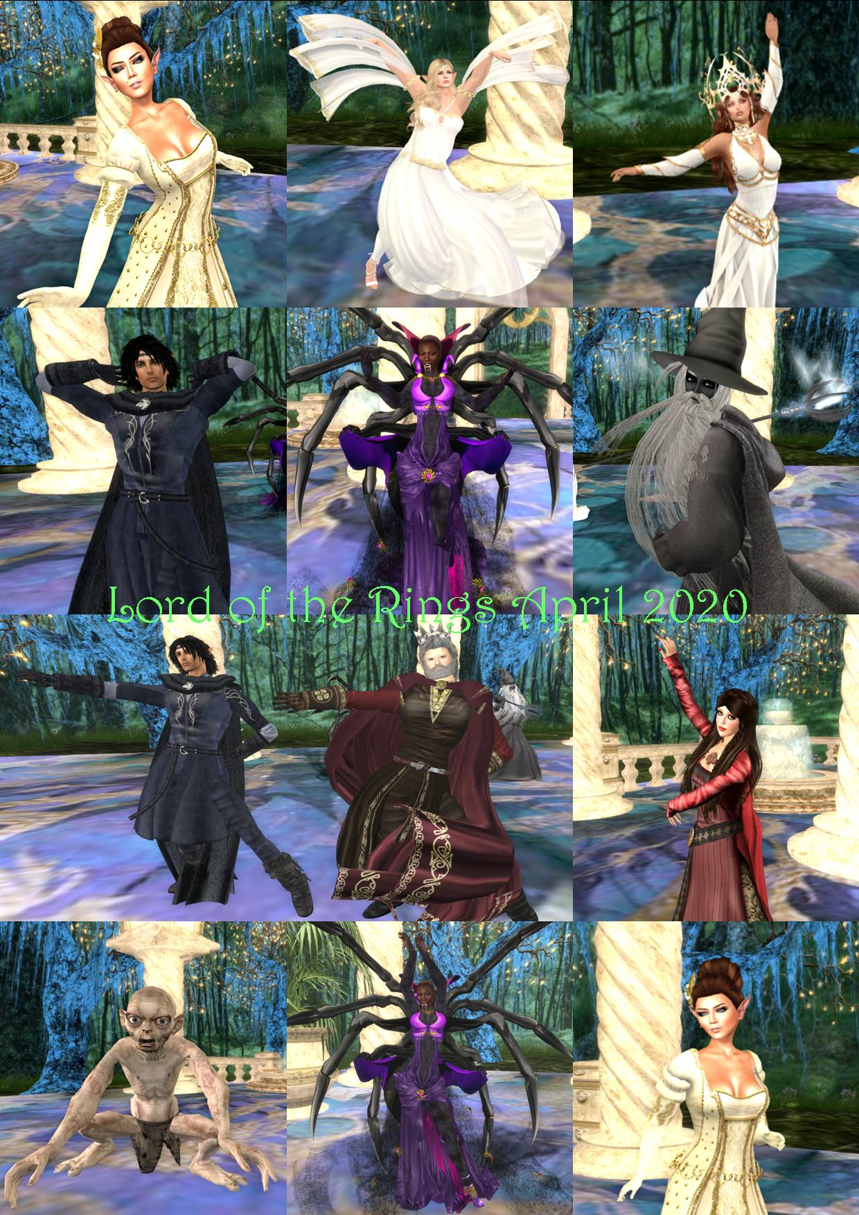 LORD OF THE RINGS PARTY COLLAGE APRIL 2020