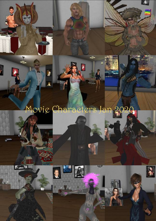 MOVIE CHARACTERS COLLAGE JAN 2020