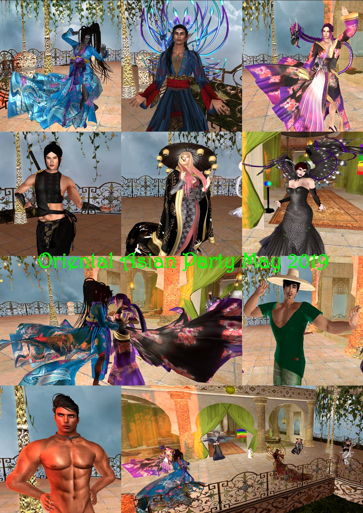 ORIENTAL & ASIAN PARTY COLLAGE MAY 2019