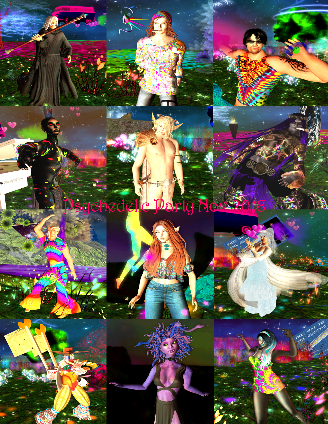 PSYCHEDELIC PARTY 2018 COLLAGE