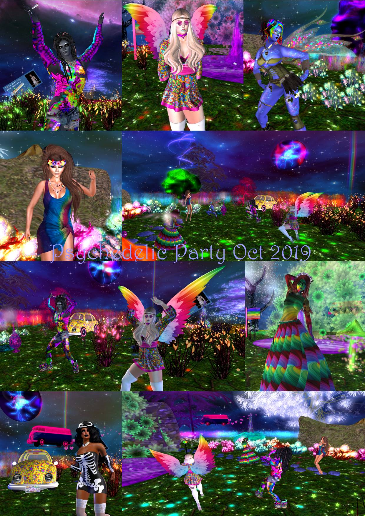 PSYCHEDELIC PARTY COLLAGE OCT 2019