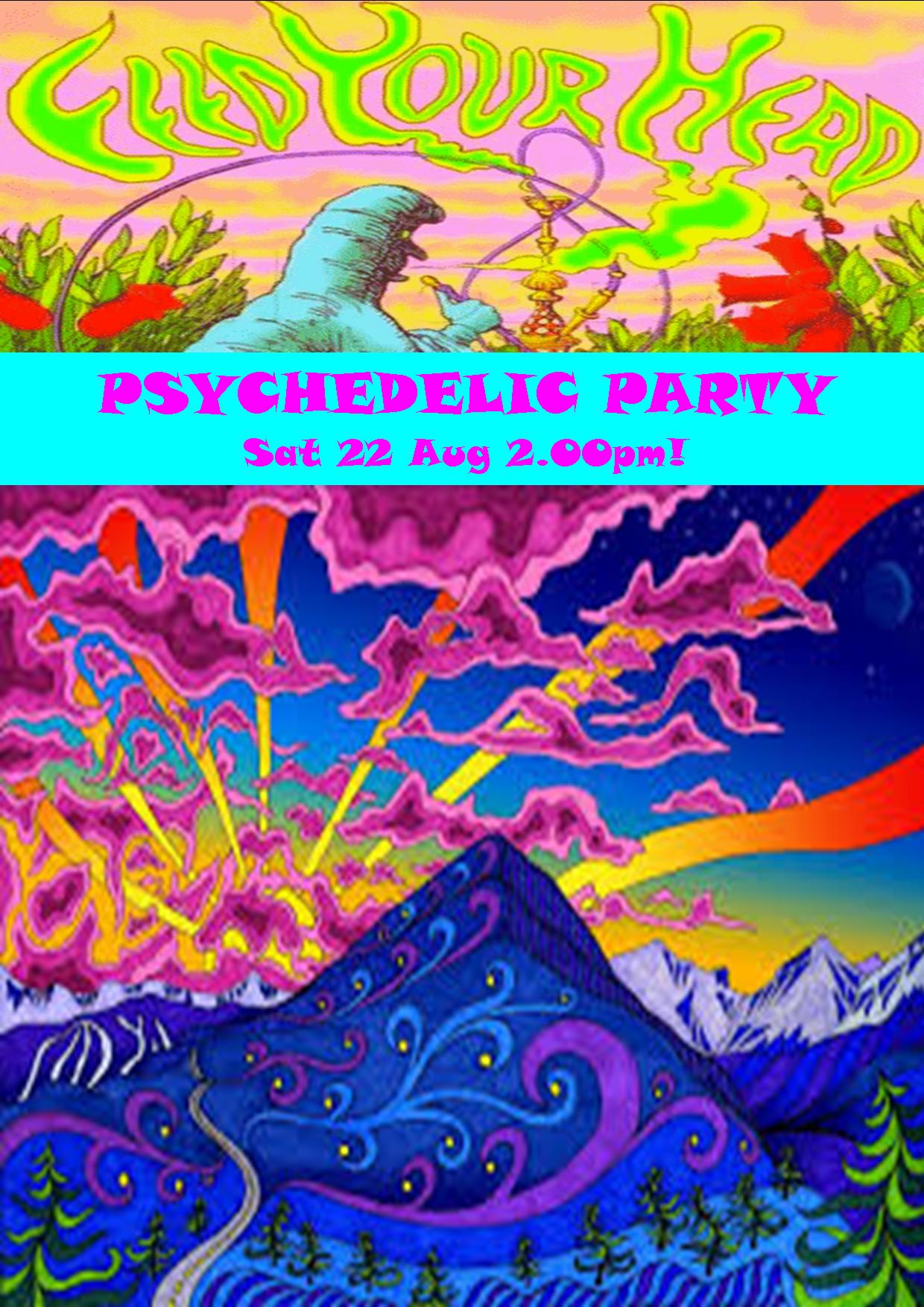 PSYCHEDELIC PARTY SAT 22 AUG 2.00PM