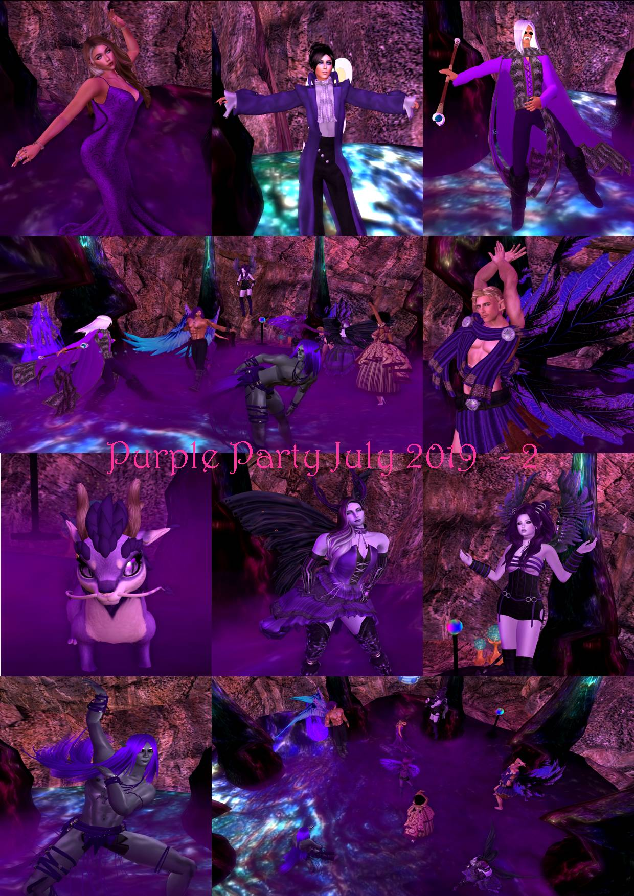PURPLE PARTY COLLAGE JULY 2019 - 2