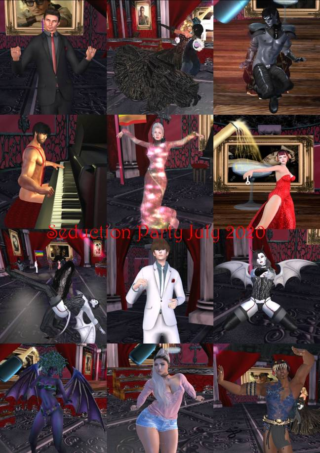 SEDUCTION PARTY COLLAGE JULY 2020