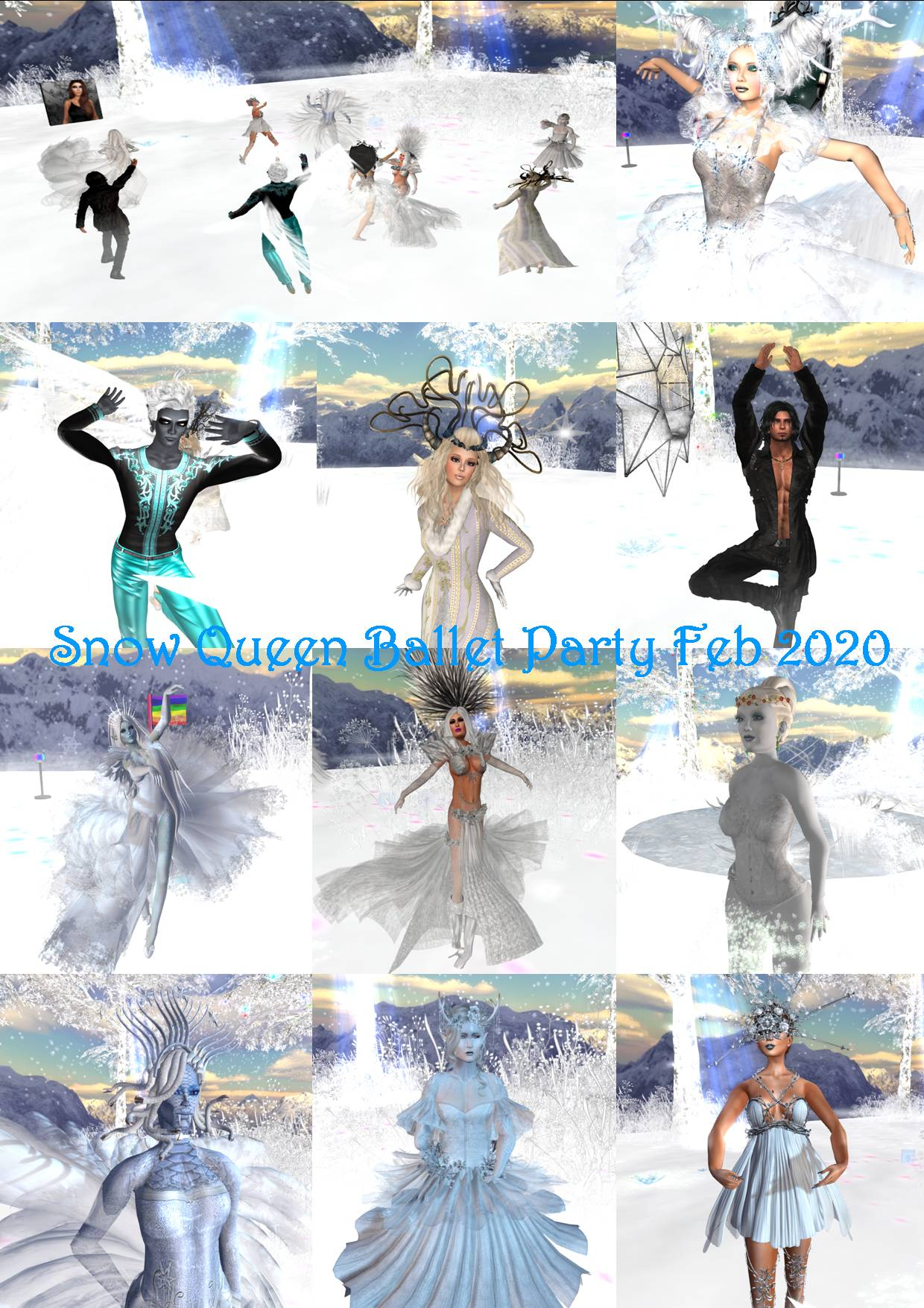 SNOW QUEEN PARTY COLLAGE FEB 2020