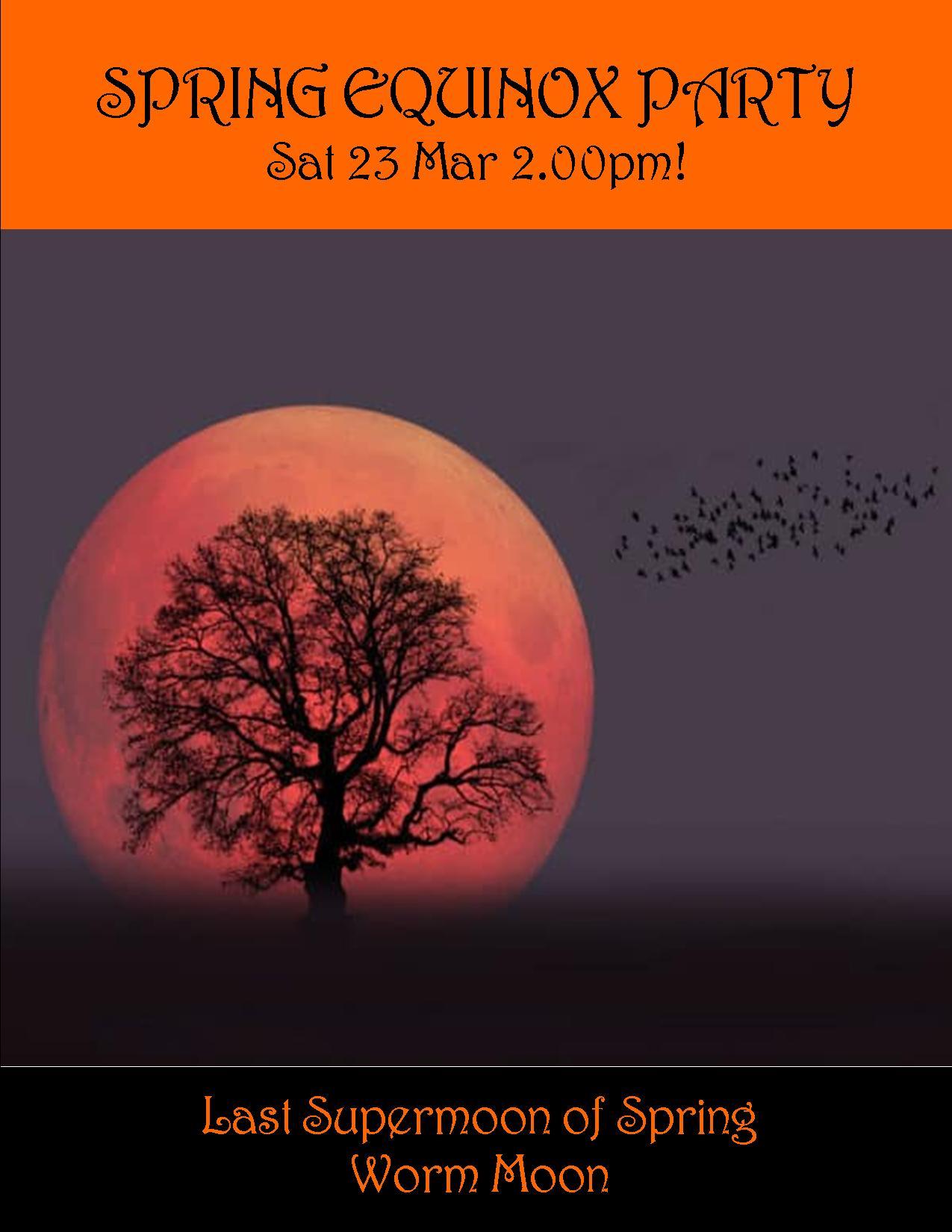 SPRING EQUINOX PARTY SAT 23 MAR 2.00PM
