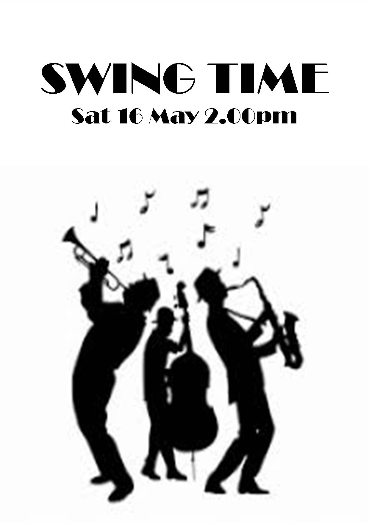 SWING TIME SAT 16 MAY 2.00PM