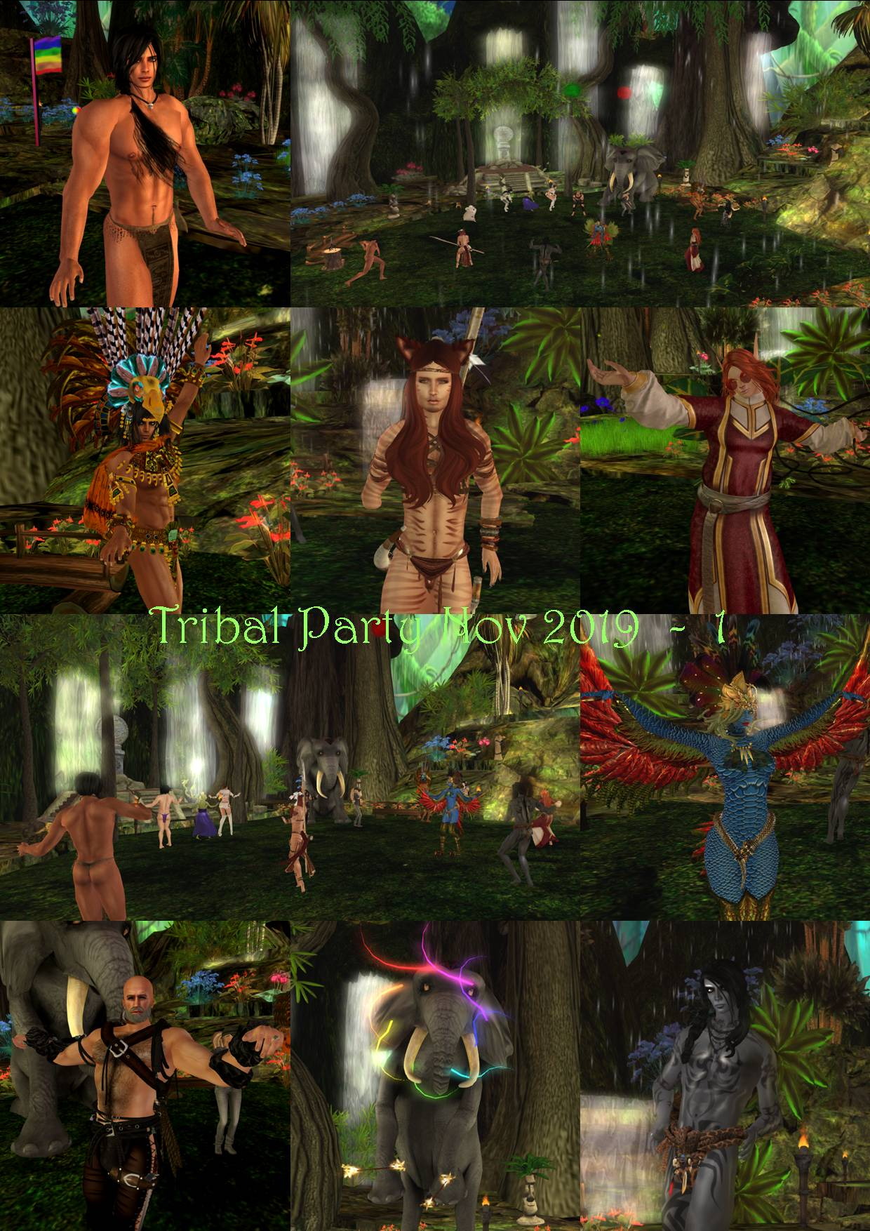 TRIBAL PARTY COLLAGE 2019 - 1