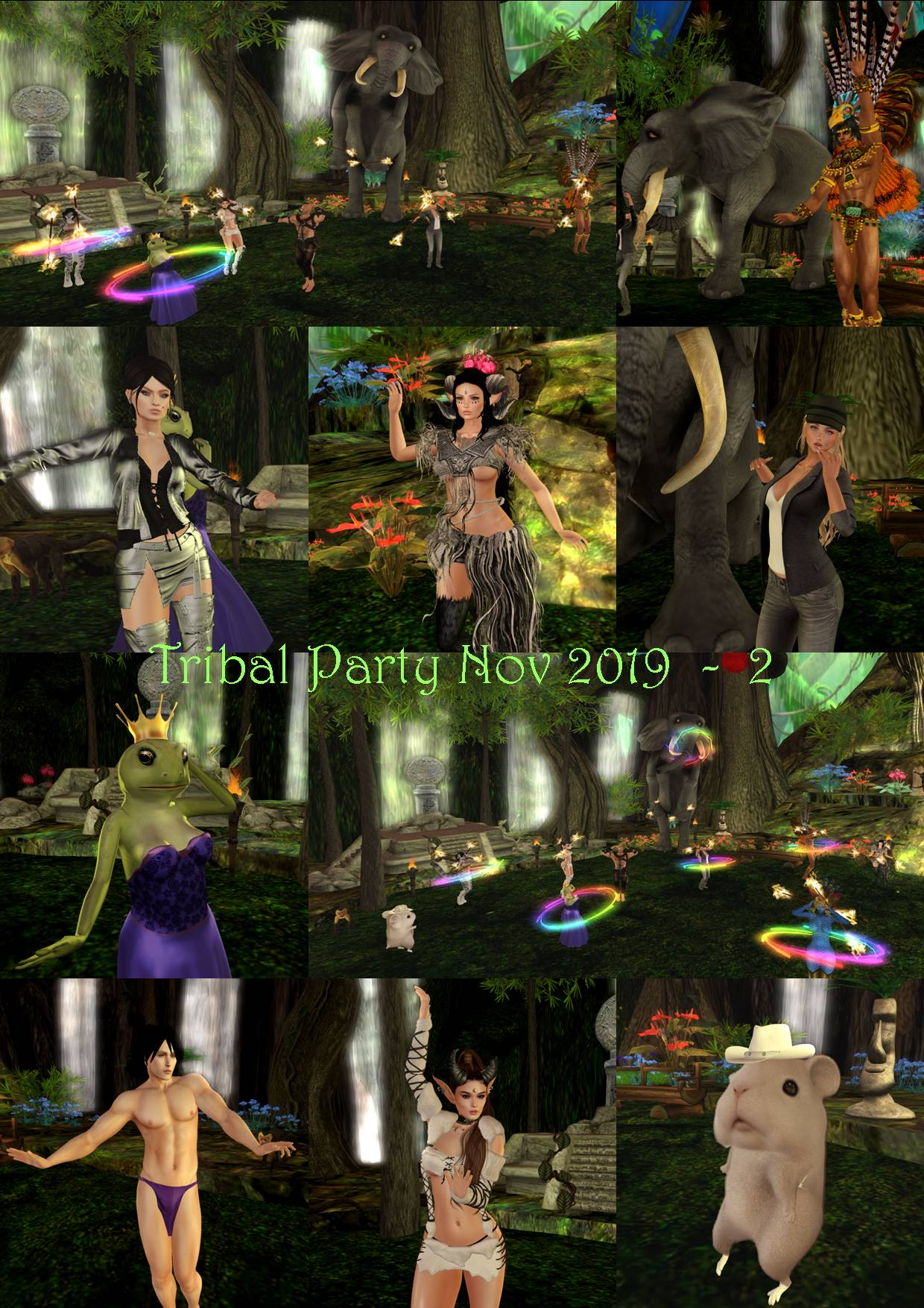 TRIBAL PARTY COLLAGE NOV 2019 - 2