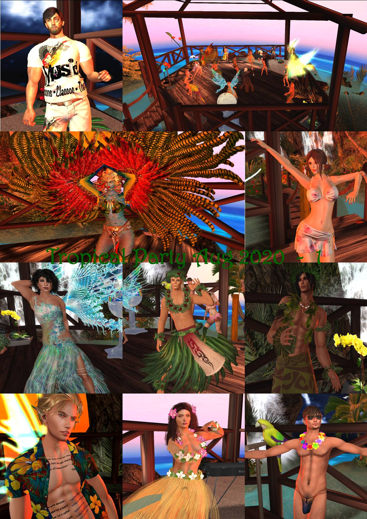 TROPICAL PARTY COLLAGE AUG 2020 - 1