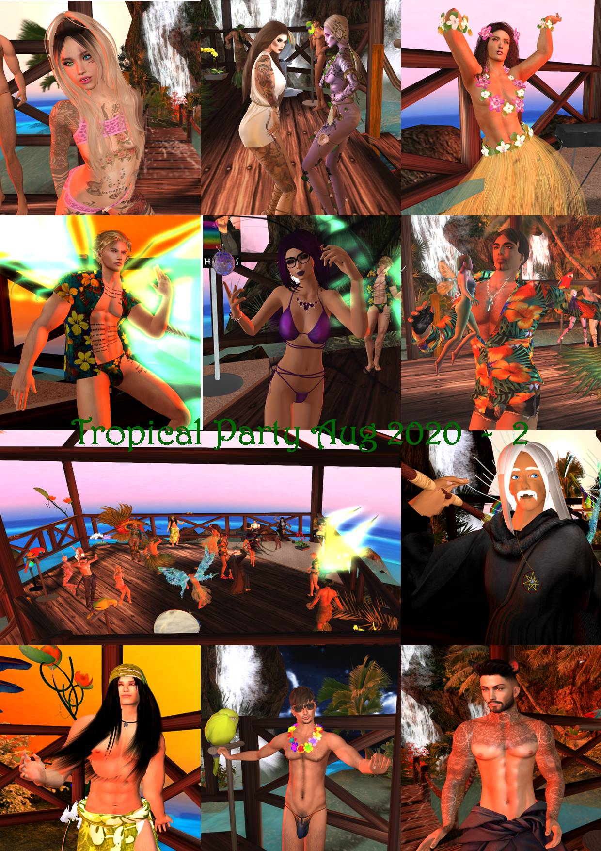 TROPICAL PARTY COLLAGE AUG 2020 - 2