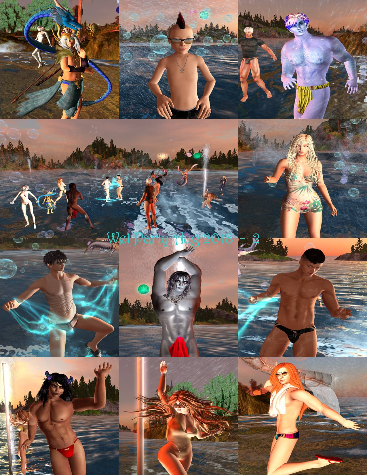 WET PARTY COLLAGE AUG 2018 - 2