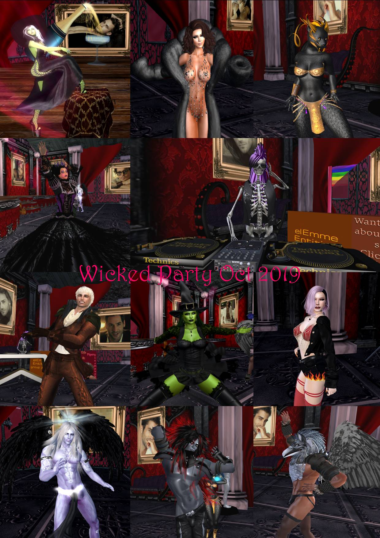 WICKED PARTY COLLAGE OCT 2019