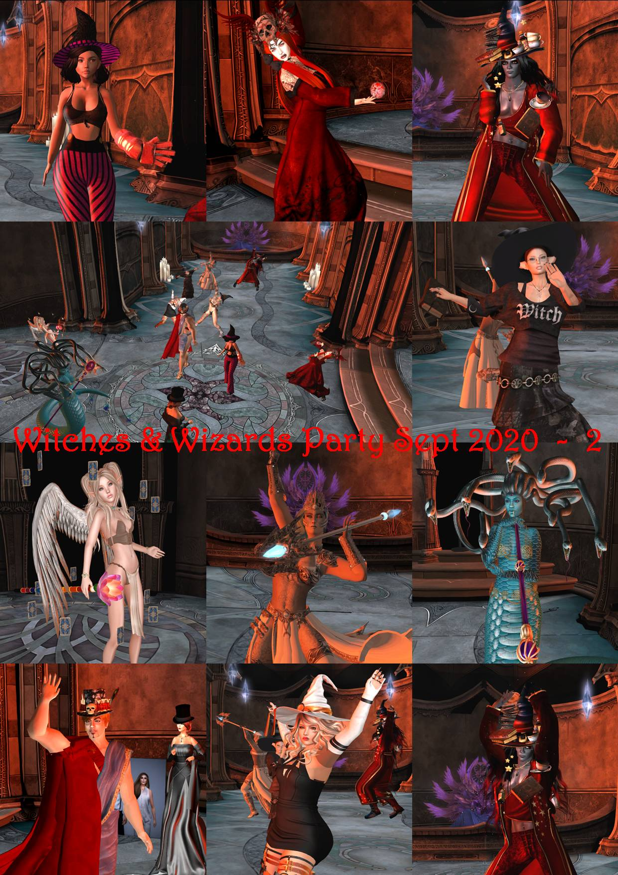 WITCHES & WIZARDS PARTY COLLAGE SEPT 2020 - 2