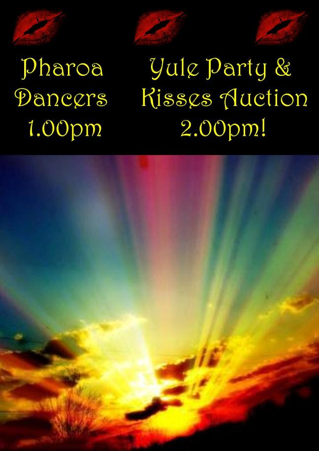 YULE PARTY & KISSES AUCTION WITH PHAROA DANCERS POSTER 21 DEC 2019
