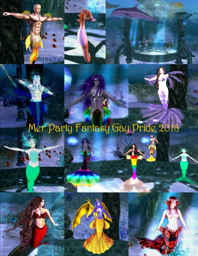 MER PARTY COLLAGE FANTASY GAY PRIDE 2018